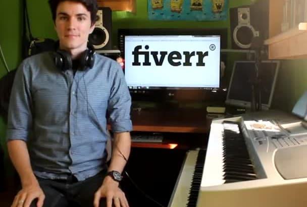 record a beautiful piano composition