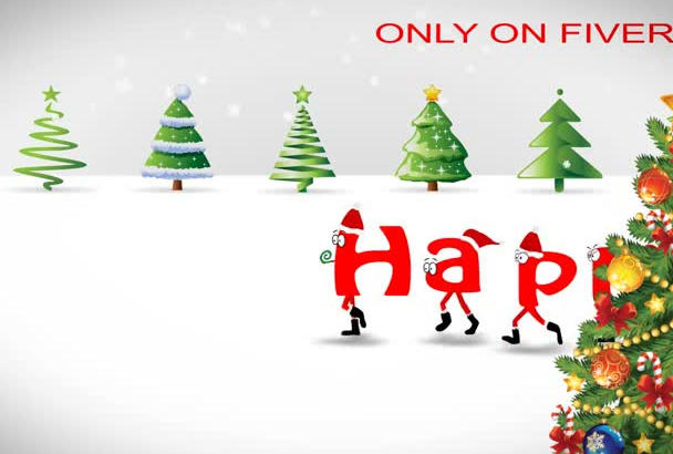 animate this Christmas font for the Holidays