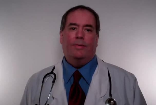do a video testimonial or product endorsement as a real Doctor spokesmodel