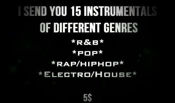 send you 15 royalty free instrumentals
