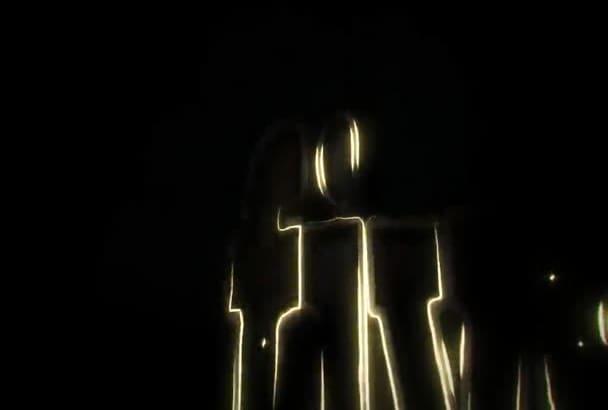 make 2D logo into 3D intro Video