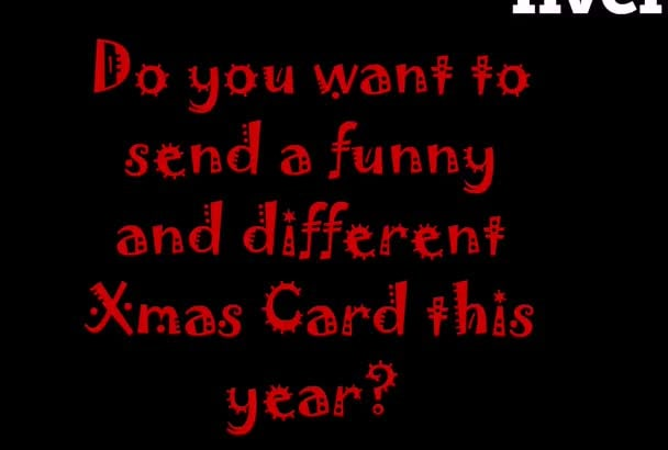 do an animated christmas card funny and customized