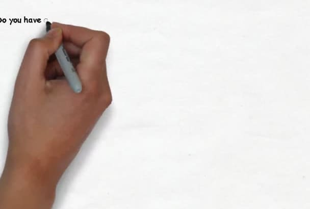 create an awesome whiteboard video animated scribe speed drawn doodle video