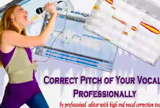 correct pitch of your vocals manually