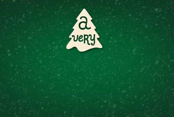 create this unique christmas greetings animation