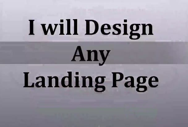 create and design a professional Landing Page