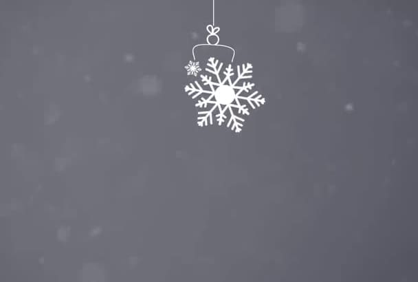 create a beautiful christmas greeting animation