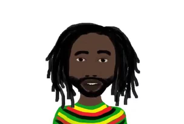 animate A Jamaican Rasta man and voice over