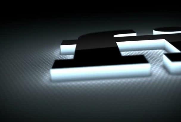 create this Light Emitting 3D Logo Reveal Intro