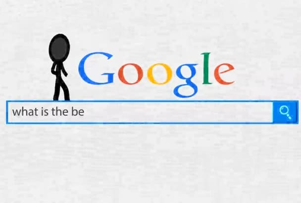 create this GOOGLE search video with your logo