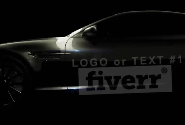 create a 3D car with custom texts and Logo