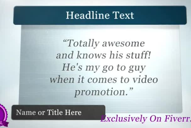 make Your Business Reviews Video