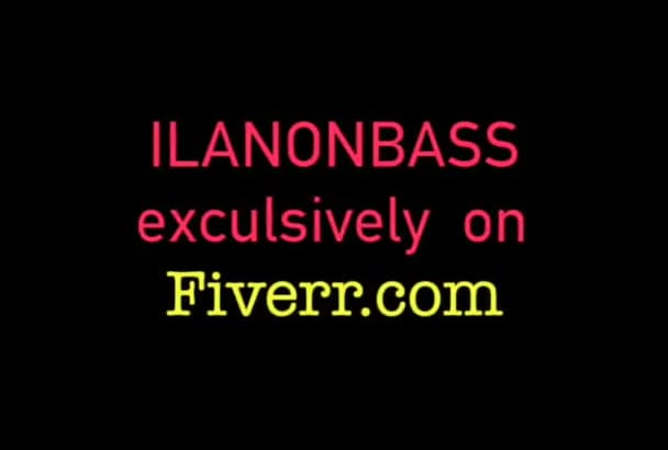 record a bass line for any style