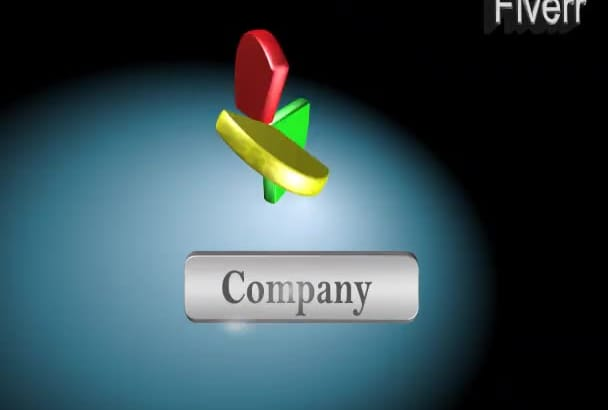 create 3d logo of your company with animation