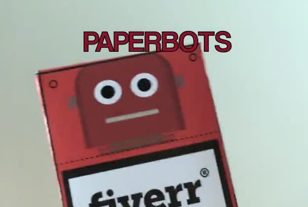 create a paper robot with your logo or msg on it