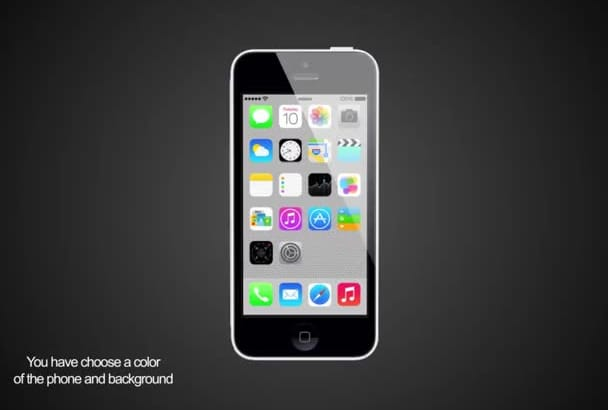 promote your app with a 3D iPhone 5C video