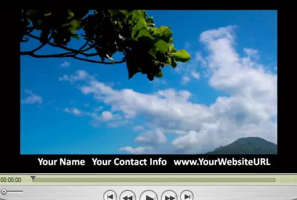 brand Your Video Marketing Projects with Your Custom Info in a Border