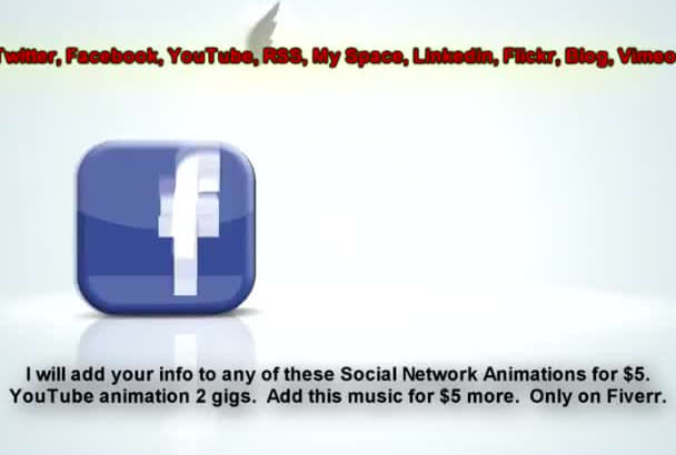 add your info to any Social Media Animation