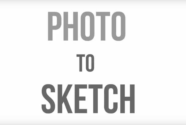 turn any photo into 6 different sketch variations