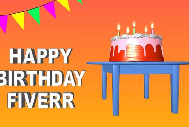 make birthday greeting message video
