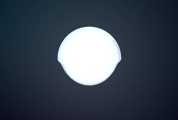 customize this HiTech 3D Ball HD logo reveal