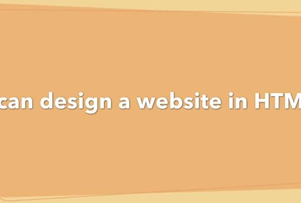 design a website in joomla or HTML