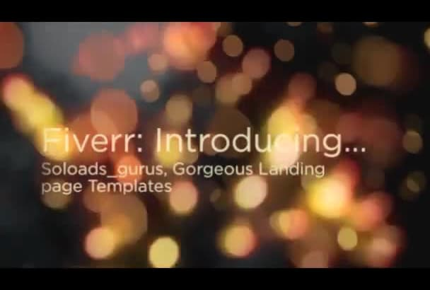 provide 1000 Gorgeous Converting Landing and Squeeze page templates