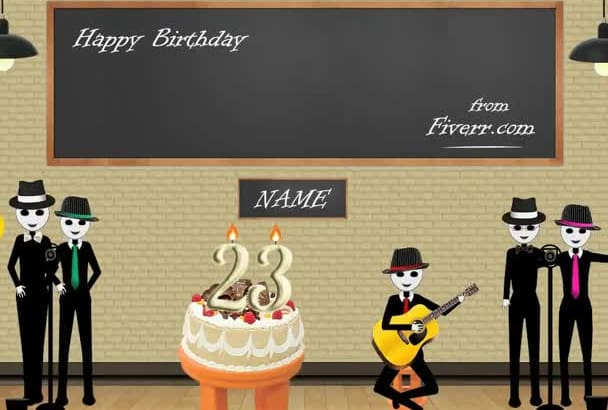 make Pero and The Band to sing happy birthday song