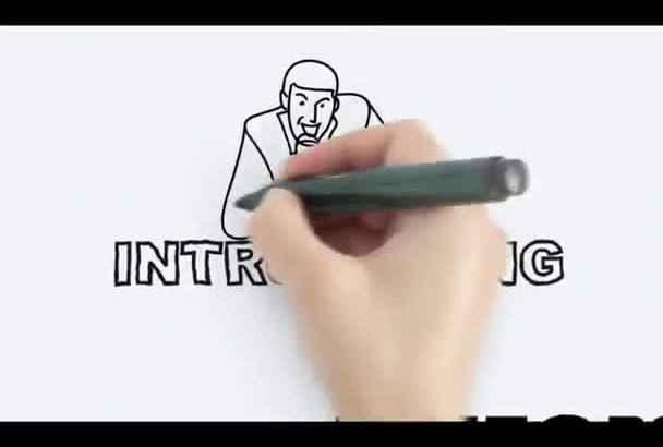 create 60 seconds whiteboard animation