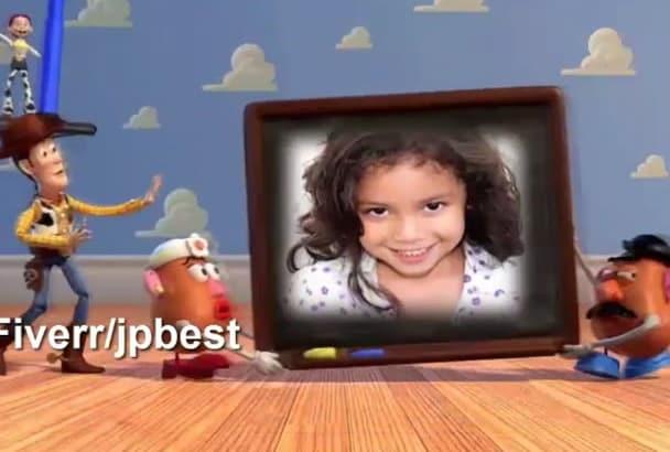 create toy Story Birthday Invitation or Promo Video