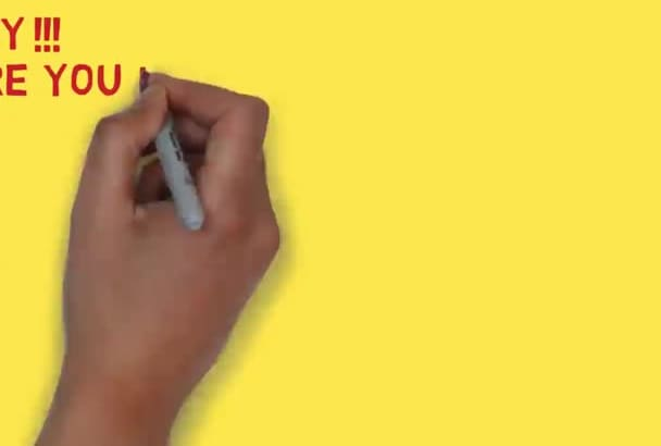 do eye catching white board animation
