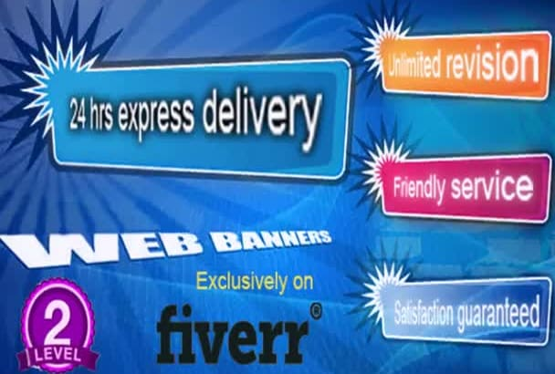 design amazing web banner, header with in 24 hrs
