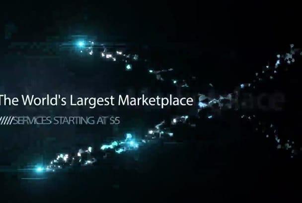 make an animated fireflies logo video intro