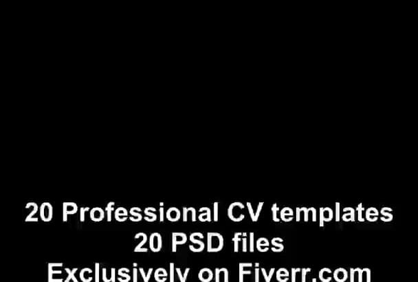 give you 20 Professional CV templates