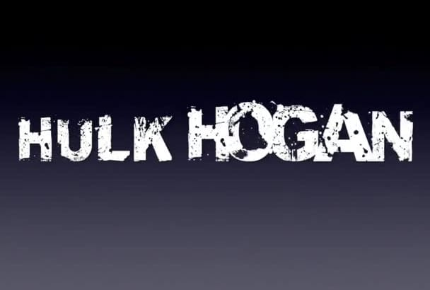 do Hulk Hogans Voice andVideo of him