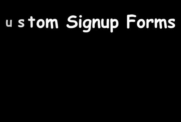 create your custom signup form