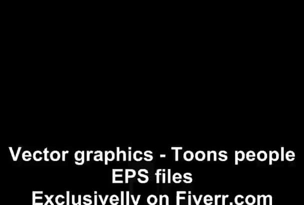 give you Vector graphics Toon people