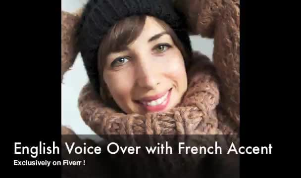 record an english voice over with french accent