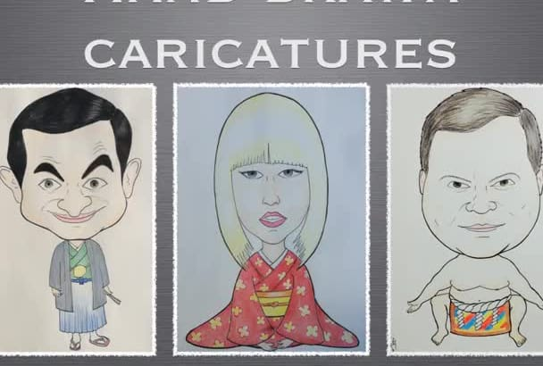 draw Japanese style caricatures using your photos