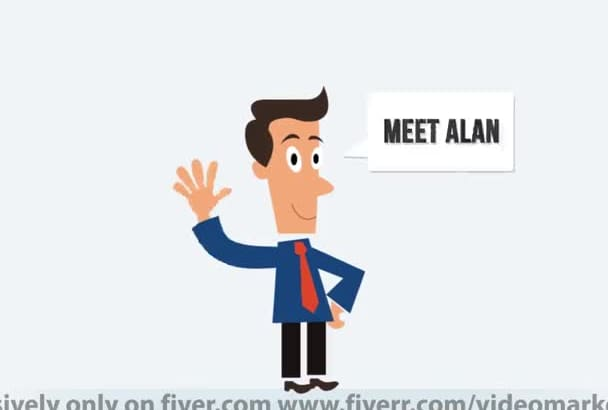 create ANIMATED corporate cartoon commercial video describing your businesss