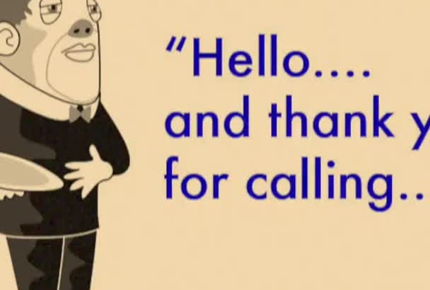 record a Voicemail message as your own British Butler