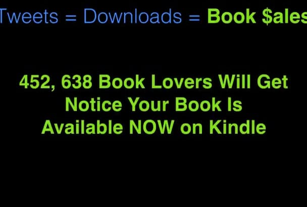promote your Kindle eBook to over Two Million book fans on TWITTER
