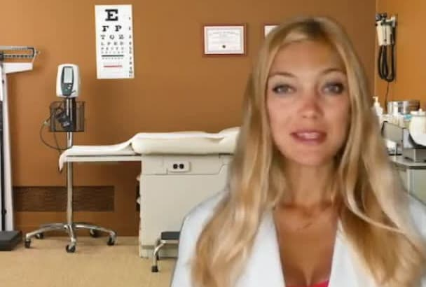 create fun video as a cute Russian doctor