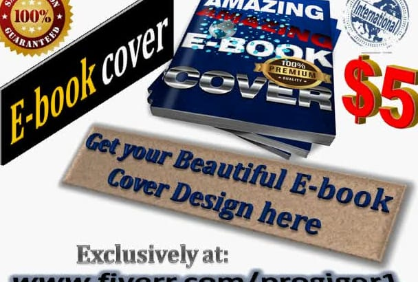 create a beautiful book,Ebook, KINDLE cover for you