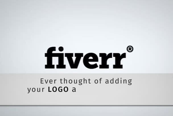 create an animated watermark from your logo