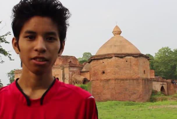 record a video at Talatal Ghar Palace