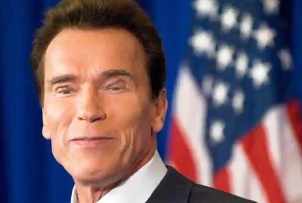 make Arnold Schwarzeneggers picture talk