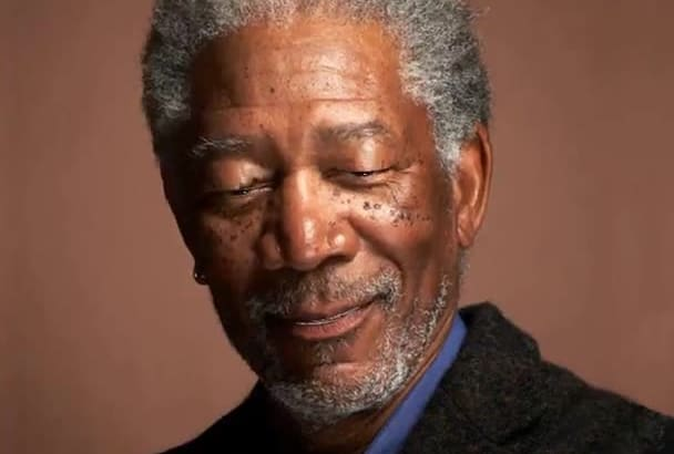 make talking video from Morgan Freeman Picture