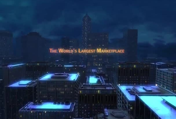 make a movie style night city intro with your logo