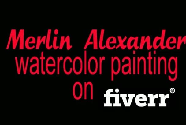 a paint  watercolor Illustrations